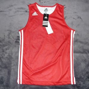 NWT Adidas 3-Stripe Mesh Lined Muscle Tank M